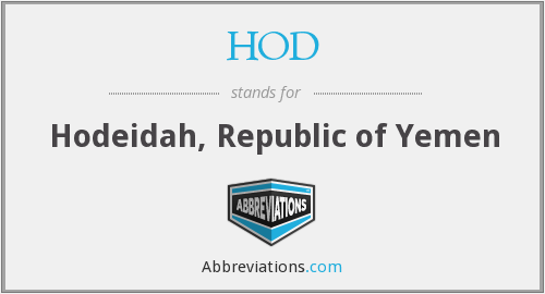 What does HOD stand for?