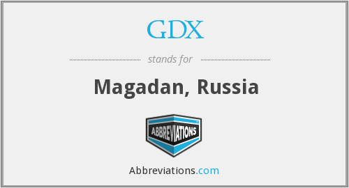 What does GDX stand for?