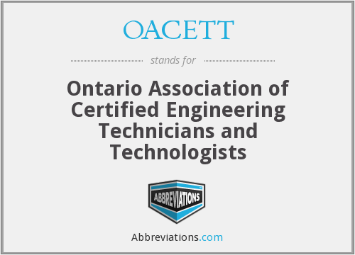 What does OACETT stand for?