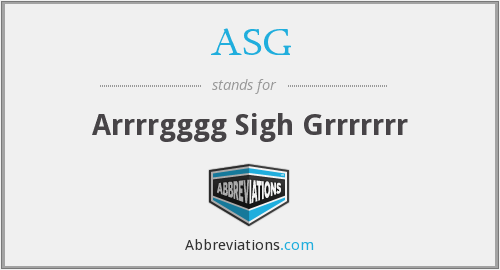 What does ASG stand for?