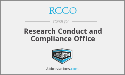 What does RCCO stand for?