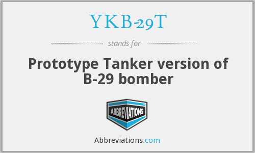 What does YKB-29T stand for?