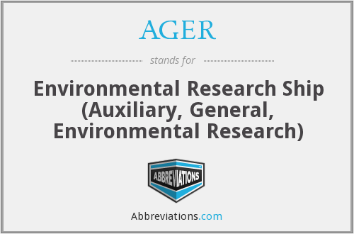 What does AGER stand for?
