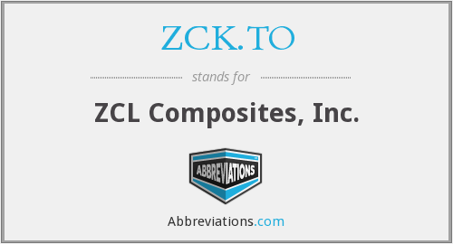 What does ZCK.TO stand for?