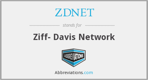 What does ZDNET stand for?