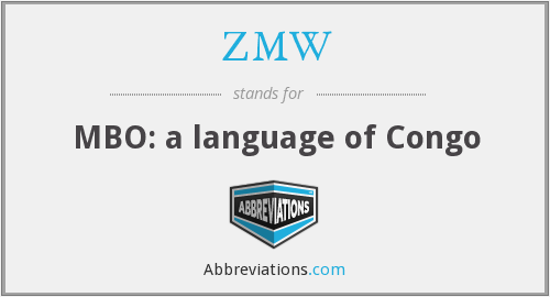 What does ZMW stand for?