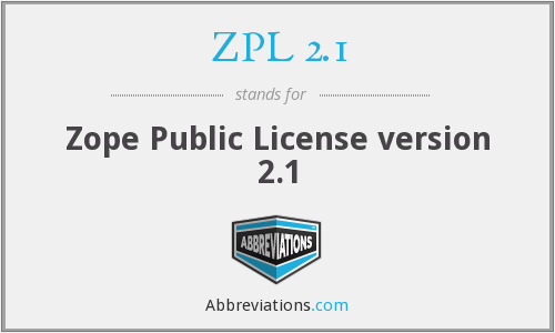 What does ZPL 2.1 stand for?