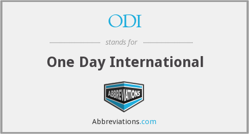 What does ODI stand for?