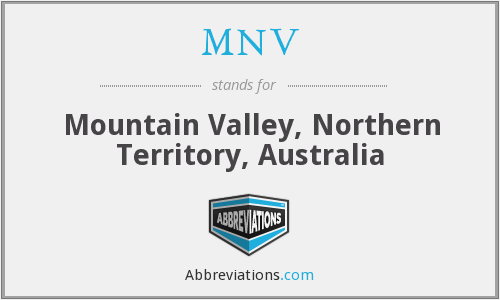 What does MNV stand for?