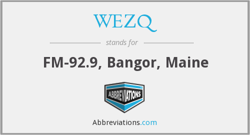 What does WEZQ stand for?