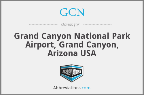 What does Grand Canyon stand for?