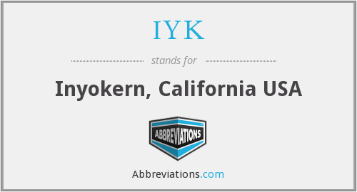 What does IYK stand for?