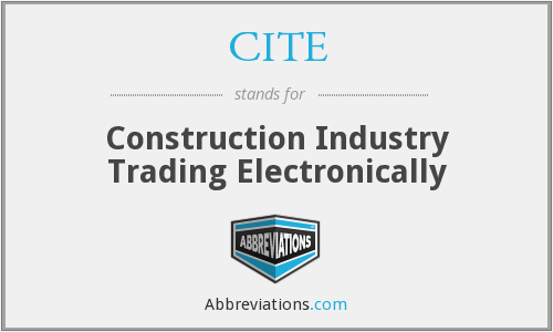 What does CITE stand for?