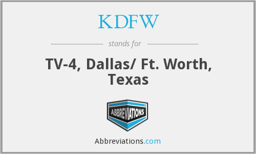 What does KDFW stand for?