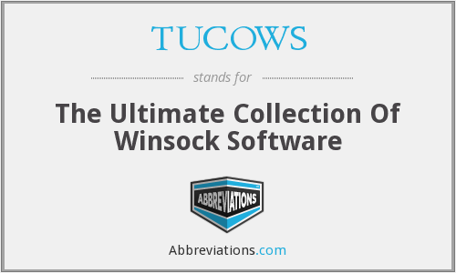 What does TUCOWS stand for?