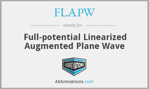What does FLAPW stand for?