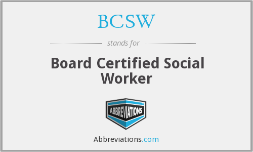 What does BCSW stand for?