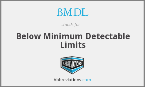 What does BMDL stand for?