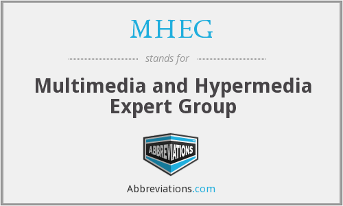 What does MHEG stand for?