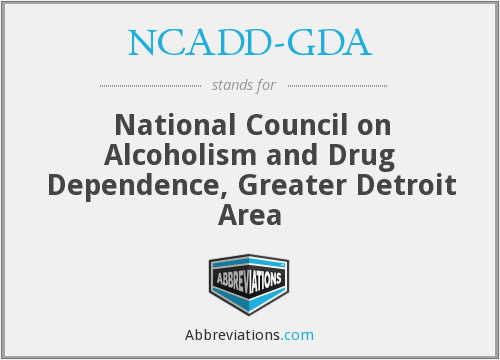 What does NCADD-GDA stand for?