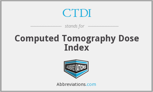 What does CTDI stand for?