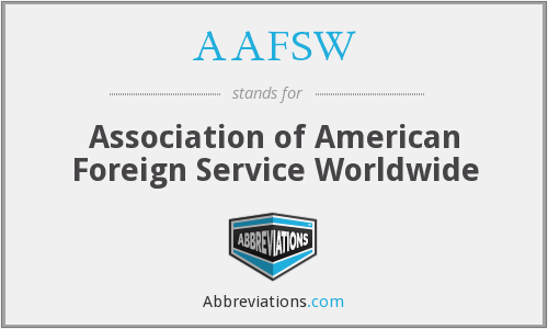 What does AAFSW stand for?