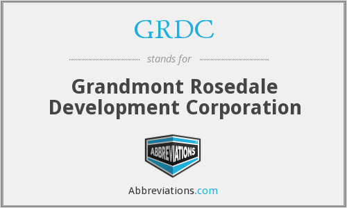 What does GRDC stand for?