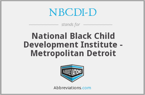 What does NBCDI-D stand for?
