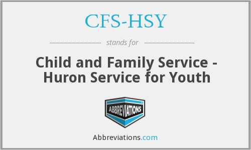 What does CFS-HSY stand for?