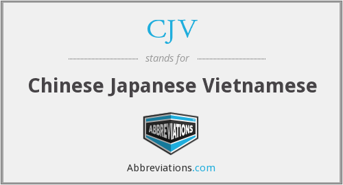 What does CJV stand for?