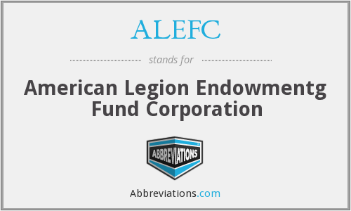 What does ALEFC stand for?
