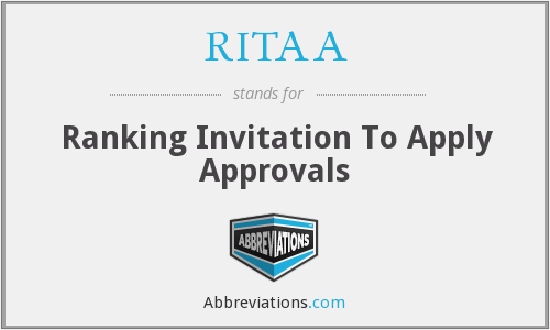 What does RITAA stand for?