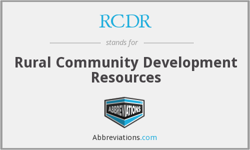 What does RCDR stand for?