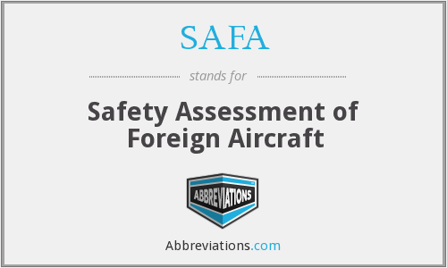 What does SAFA stand for?