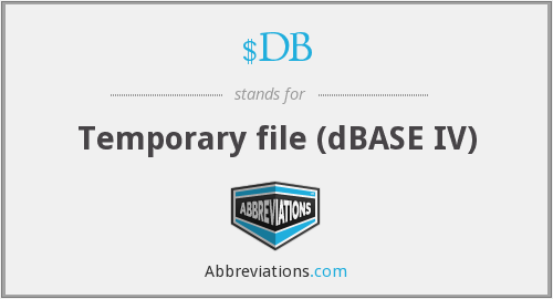What does $DB stand for?