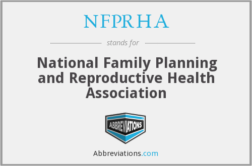 What does NFPRHA stand for?