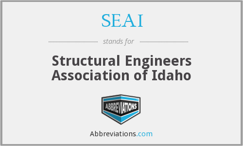 What does SEAI stand for?