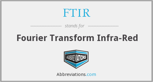 What does FTIR stand for?