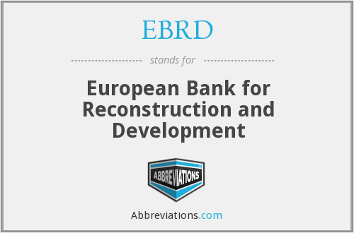 What does EBRD stand for?