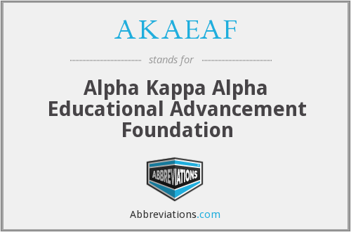 What does AKAEAF stand for?