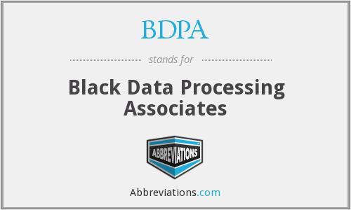 What does BDPA stand for?