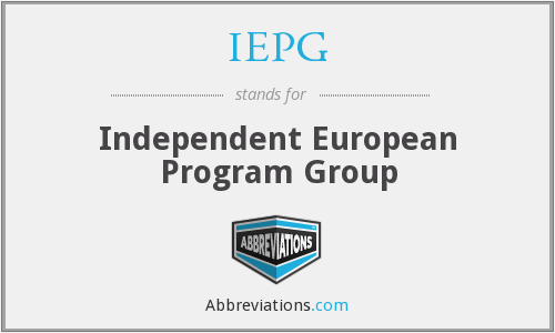 What does IEPG stand for?