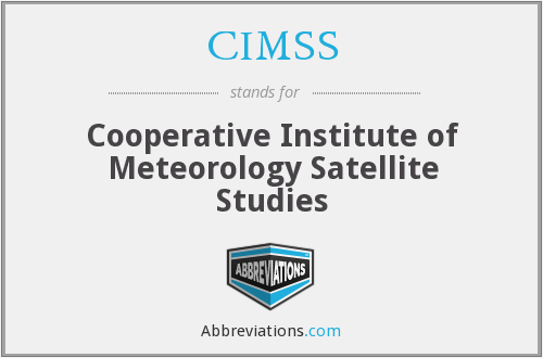 What does CIMSS stand for?