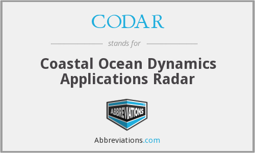 What does CODAR stand for?