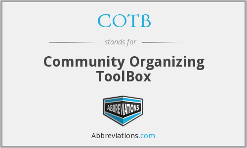 What does COTB stand for?
