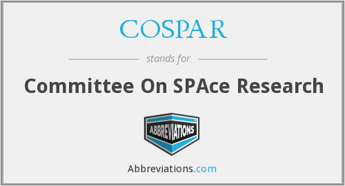 What does COSPAR stand for?