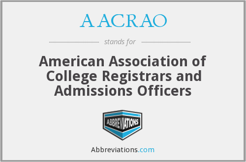 What does AACRAO stand for?