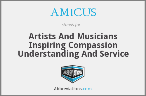 What does AMICUS stand for?