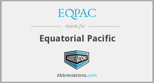 What does EQPAC stand for?