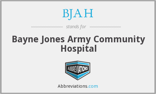 What does BJAH stand for?